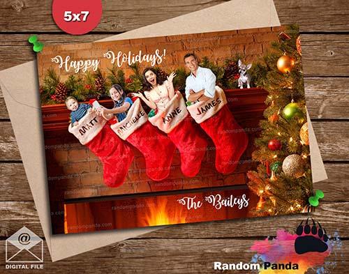 Custom Photo Christmas Card - Stocking Stuffers