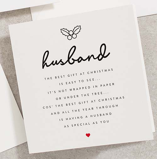 Perfect Holiday Greeting Cards for Husbands