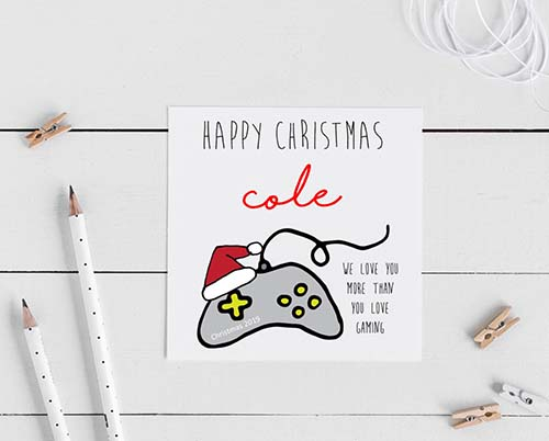 Gaming Themed Christmas Cards