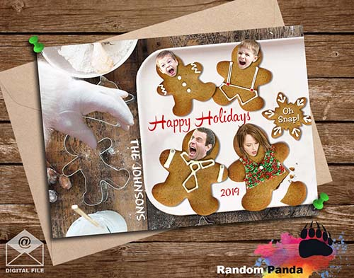 Funny Christmas Card Template - Cookies