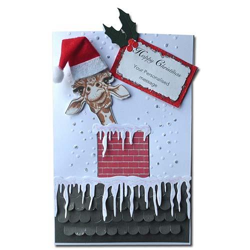 Giraffe Card Personalized Christmas Greeting Card