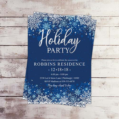 Holiday Party Invitation - Instant Download