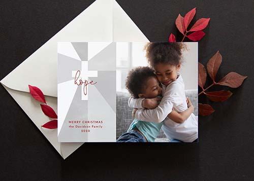 Religious Christmas Card: Hope