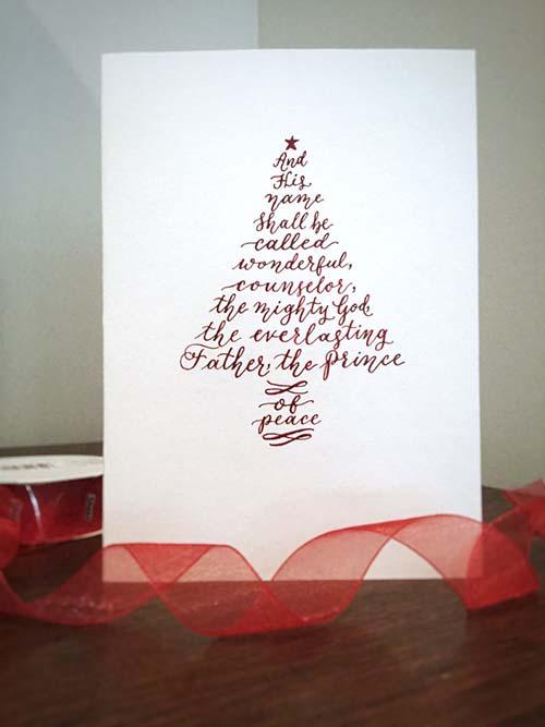 Isaiah 9:6 Christmas Card