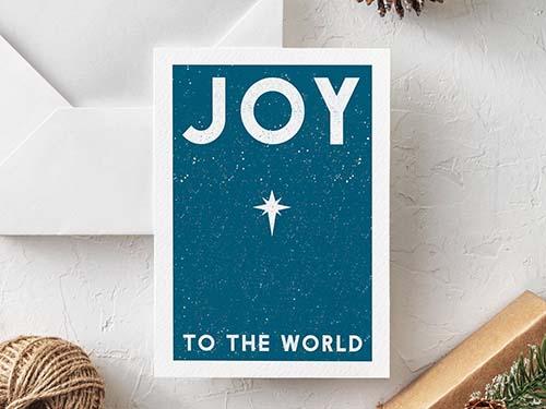 Joy to the World - Holiday Card