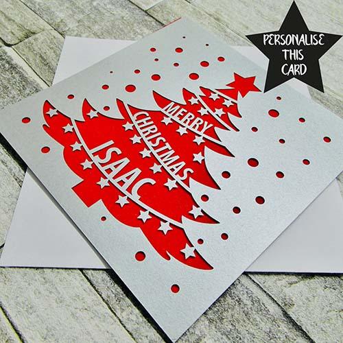 Laser Cut Merry Christmas Card