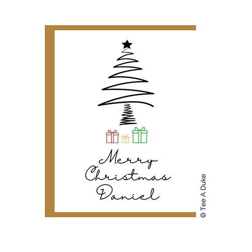 Line Art Christmas Card