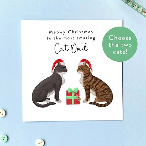 Best Christmas Cards for Cat Dads