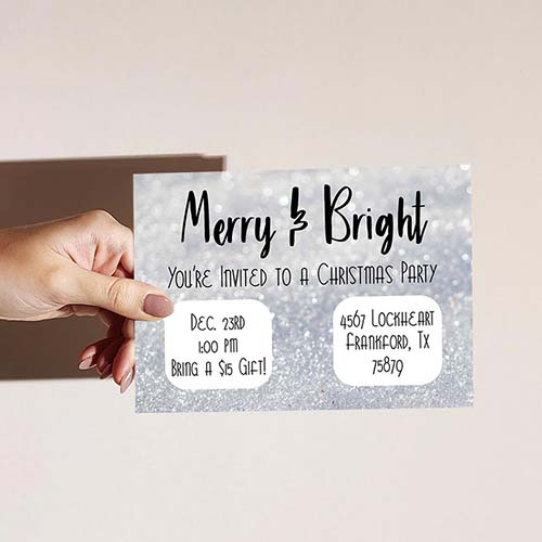Merry & Bright Christmas Party Invite