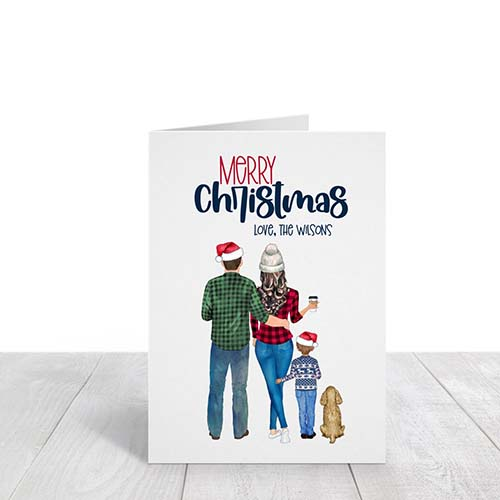 Illustrated Family Portrait Holiday Card