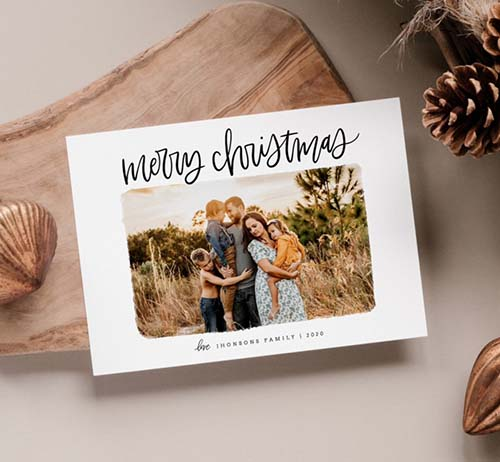 Instant Download - Photo Merry Christmas Card