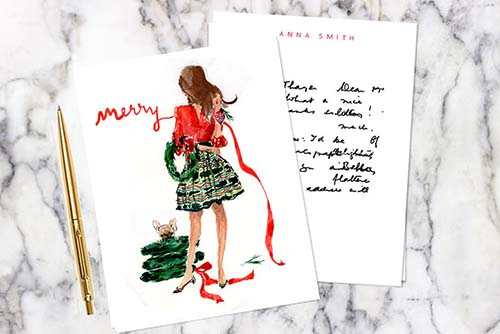 Fashionable Merry Ribbon Card for Her