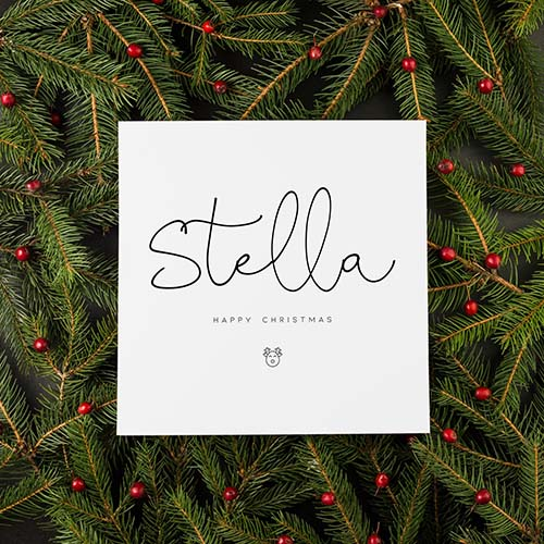 Lovely Minimalistic Happy Christmas Cards