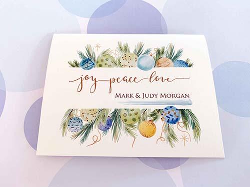 Top Christmas Card: Joy Peace Love