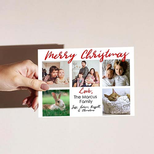 Photo Collage Christmas Greeting Card