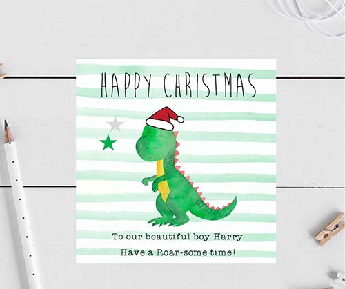 Roar-Some Christmas Time! Holiday Card