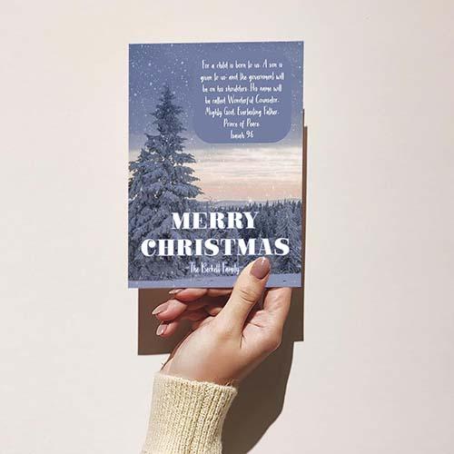Snowscape Scripture Christmas Card