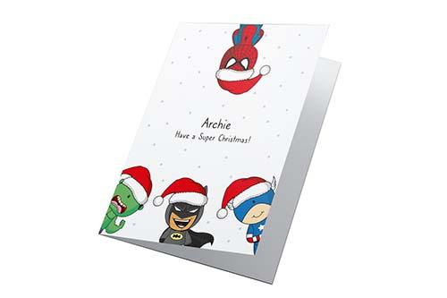 Super Hero Christmas Card
