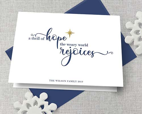Personalized Christmas Card - Thrill of Hope