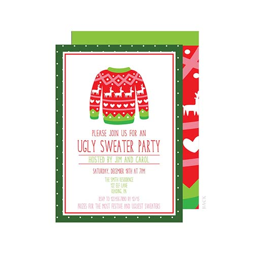 Ugly Sweater Party Invites