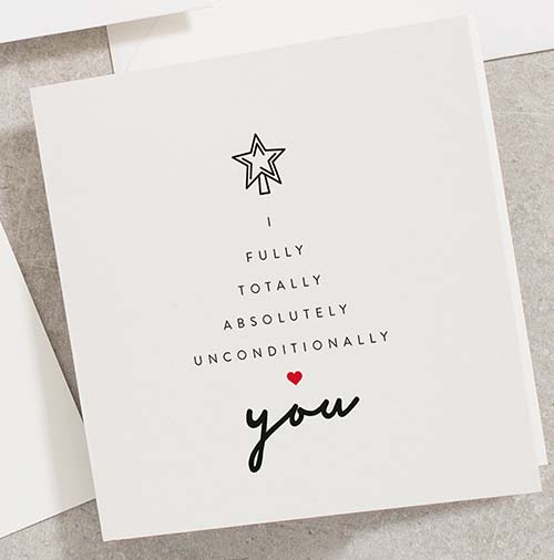 I Unconditionally Love You - Holiday Card