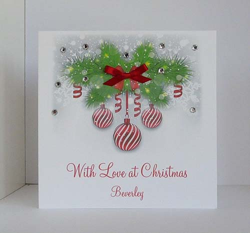 With Love at Christmas - Christmas Greeting Card