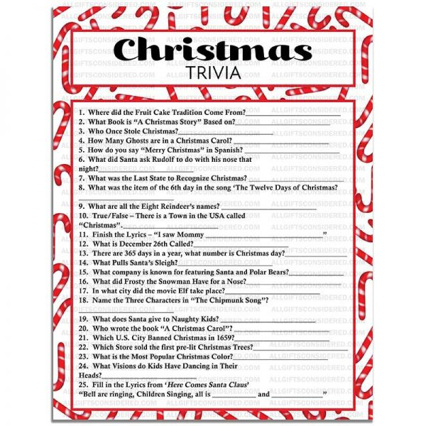 Example Photo for the Christmas Trivia