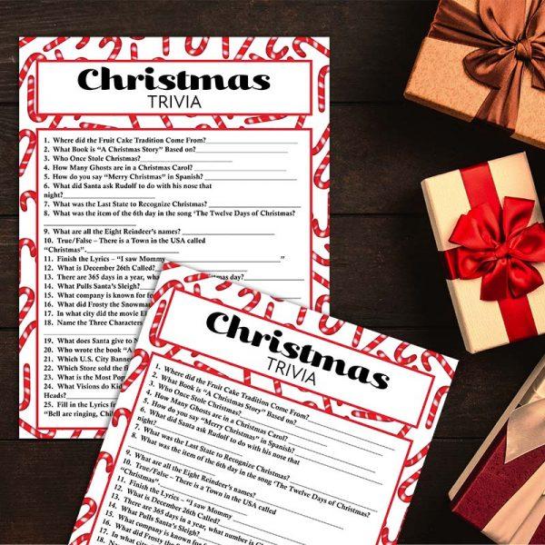 Sample Photo - Christmas Trivia Game Exchange