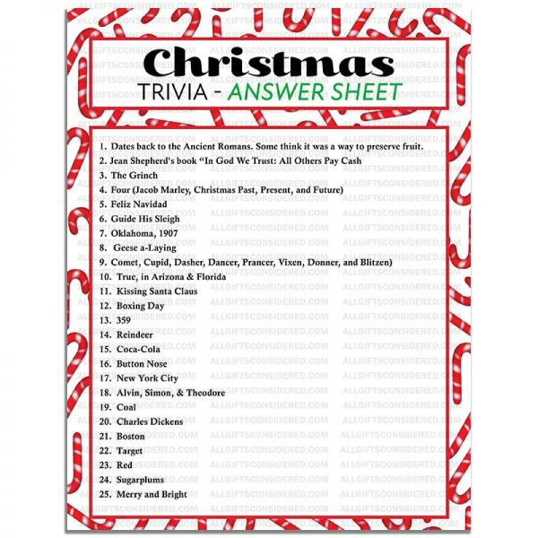 Example Photo for the Christmas Trivia (Answer Sheet)