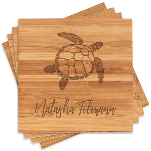 Engraved Turtle Coasters