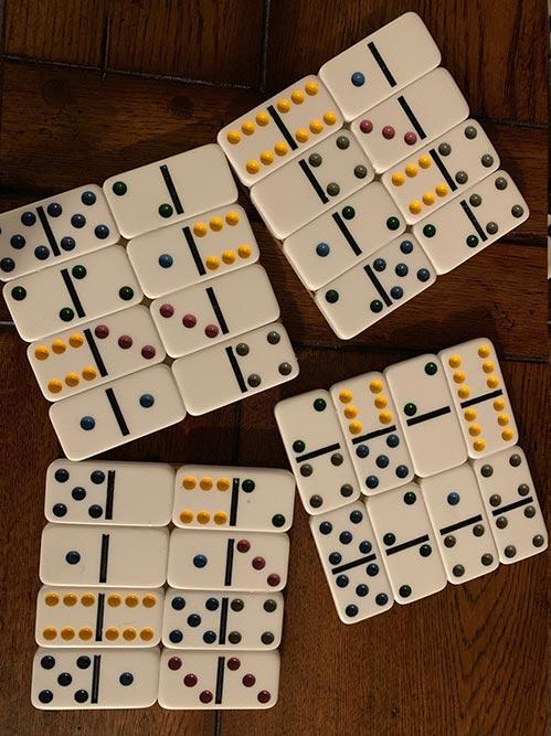 DIY- Domino Coasters