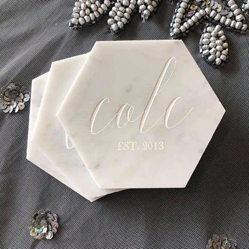 Best Personalized Geometric Coasters