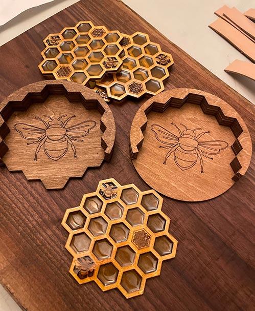 Adorable Coasters: Honey Bee Coasters