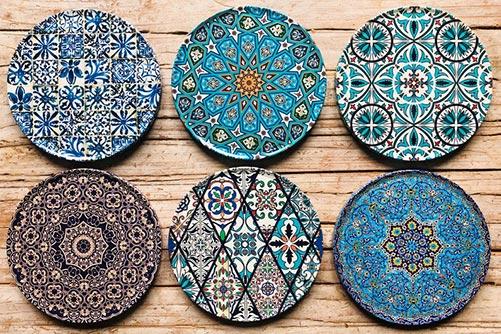 Blue Designer Coasters