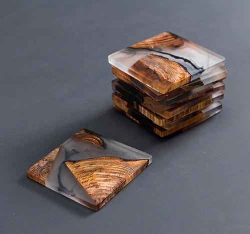 Best Designer Coaster: Wooden Epoxy