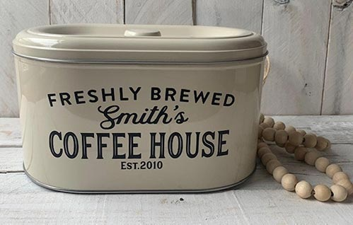 Personalized Coffee Container