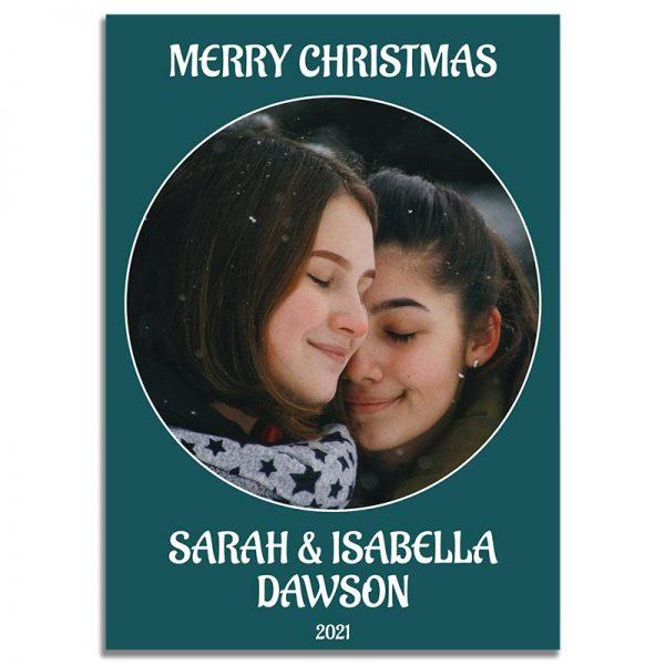 Downloadable Christmas Greeting Card: Simple Couple's Portrait