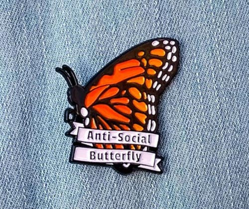 Antisocial Butterfly Pin