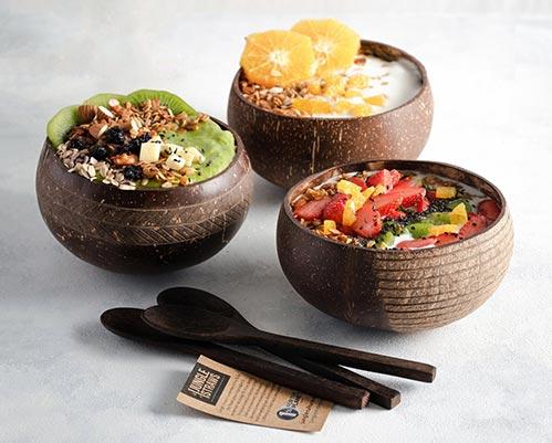 Natural Coconut Bowls & Spoons