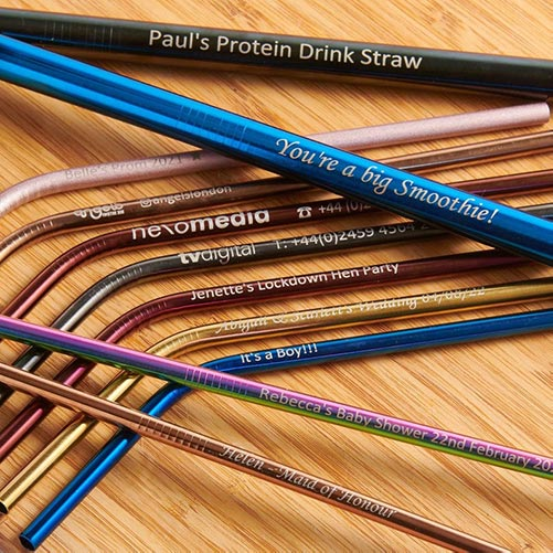 Personalized Stainless Steel Straw