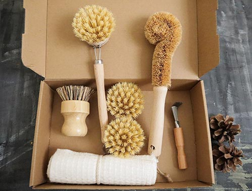 Zero Plastic Waste Kitchen Brush Sets