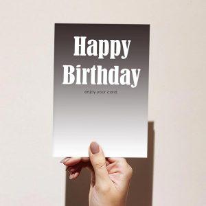Enjoy Your Card Happy Birthday Card