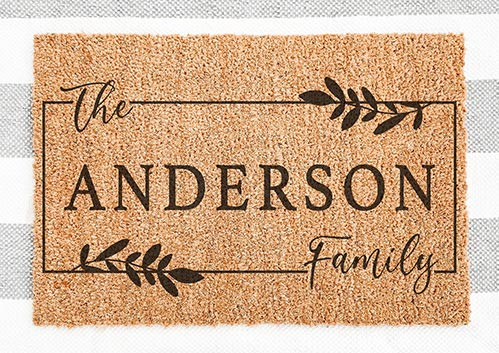 Personalized Family Door Mat