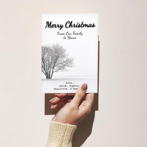 Template Photo Christmas Customizable Greeting Card: From Our Family to Yours
