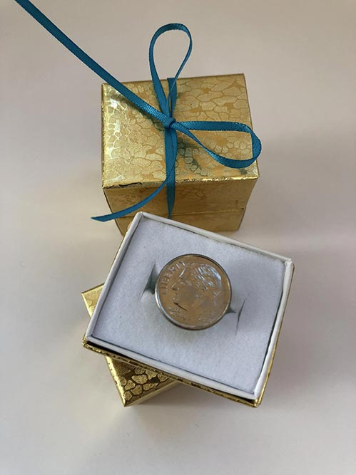 Dime-ond Ring Prank Gifts