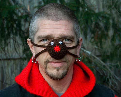 Knitted Nose Warmer