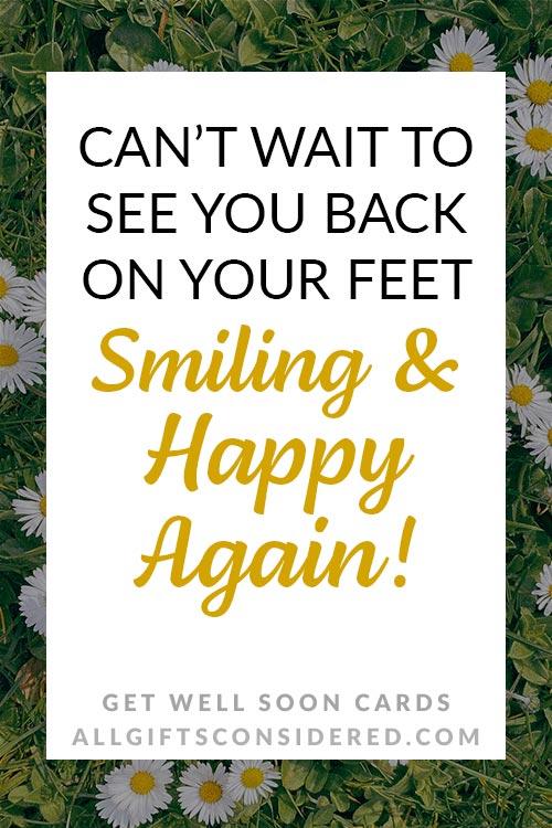 Feel Better Again Card Ideas