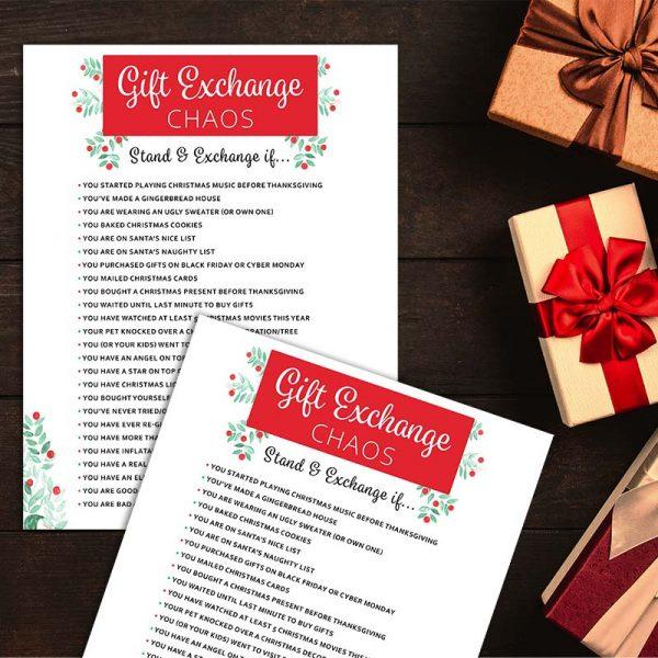 Photo Example: Gift Exchange Chaos