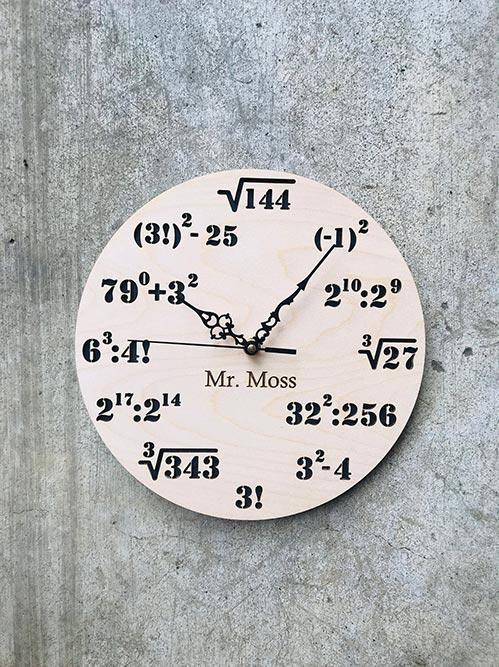 Personalized Math Clock