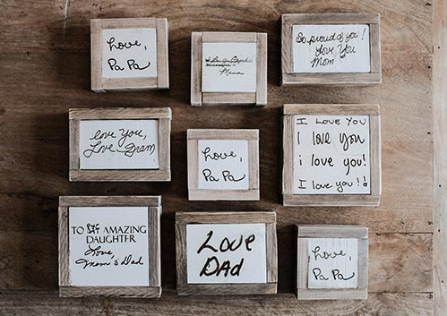 Personalized Engraved Block Messages